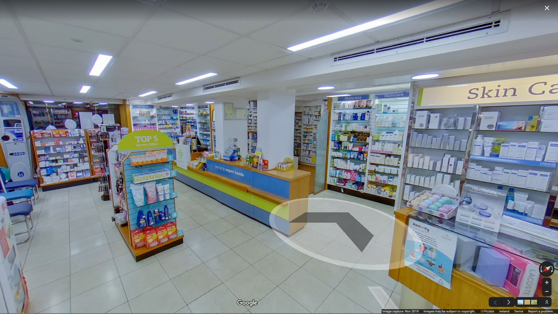 360 Virtual Tour of the Kavanagh Pharmacy in Enniscorthy