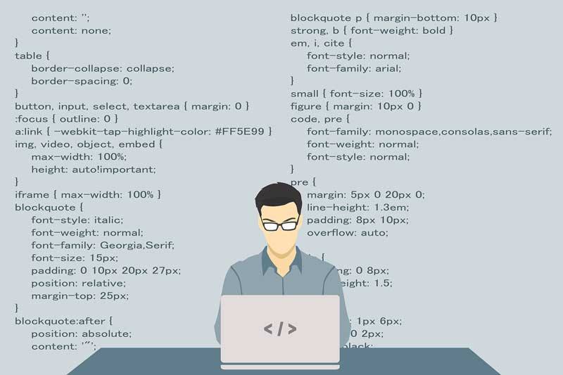 Web development requires programming skills